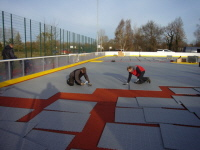 Inlinhockey Sportbelag zur Selbstmontage durch Mitglieder des Vereins